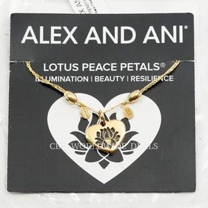 Alex And Ani Lotus Peace Petals Gold Necklace